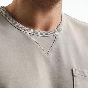 SIMWOOD 2019 الربيع هوديس الرجال جيب خمر حليقة تنحنح سليم صالح عالية الجودة زائد حجم س الرقبة بلوزات الذكور 180022