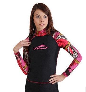 Women Surf Diving Long Sleeve T-Shirt Swim Suit Swimwear Rash Guard Tops Pants