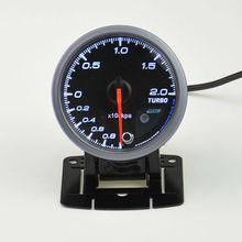 60 mm auto boost gauge and turbo gauge auto gauge warning function Automotive instrument pressure gauge +pods