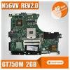 N56VV Laptop Motherboard For Asus REV2 0 Mainboard GT750 2G PGA 989 HM76 Fit N56VM N56VJ