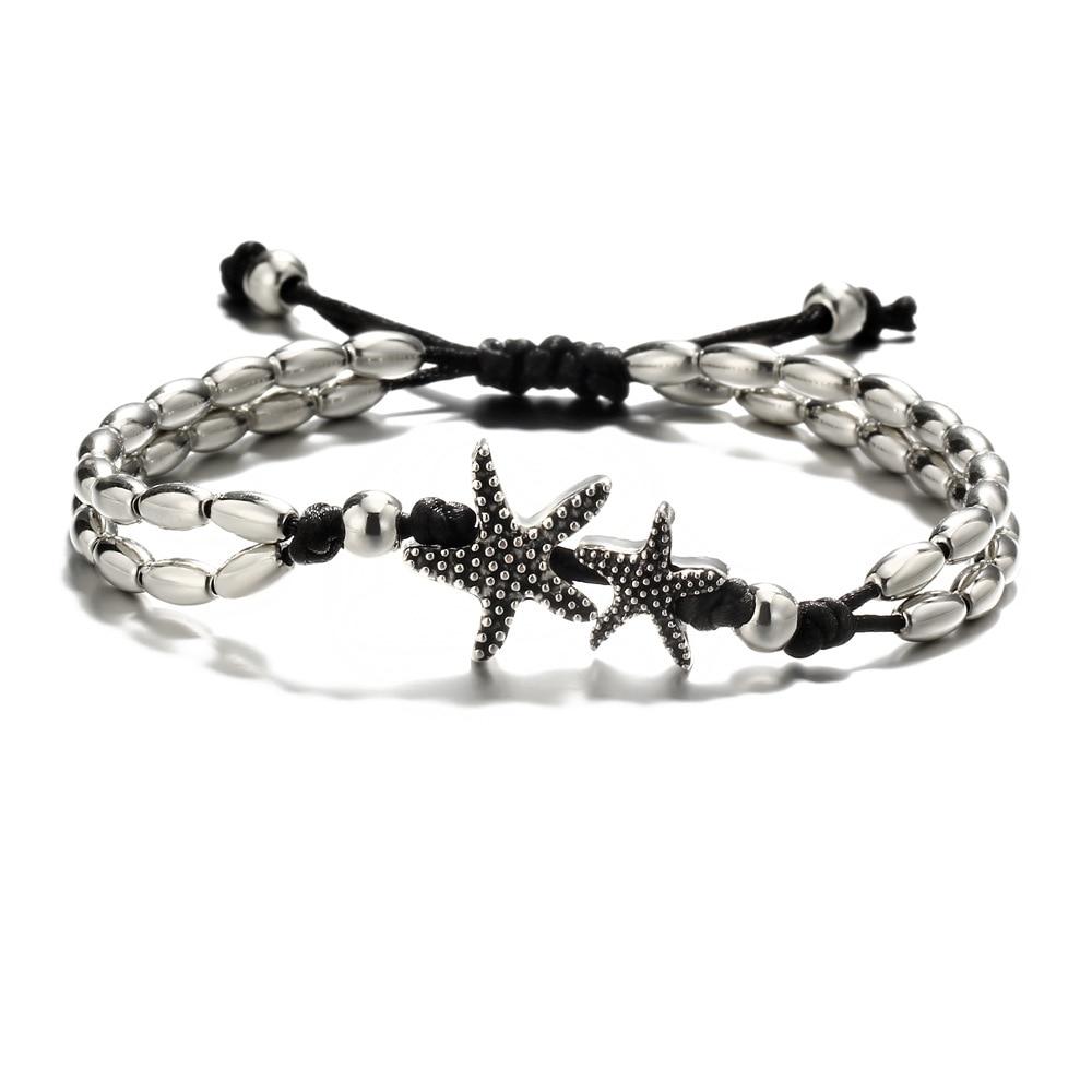 Vintage Bracelet Foot Jewelry Retro Anklet For Women Girls Ankle Leg Chain Charm Starfish Beads Bracelet Beach Jewelry 041