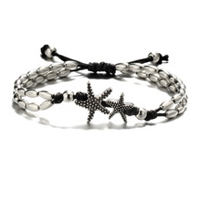 Vintage Bracelet Foot Jewelry Retro Anklet For Women Girls Ankle Leg Chain Charm Starfish Beads Bracelet Beach Jewelry 041 retro lace beads anklet for women