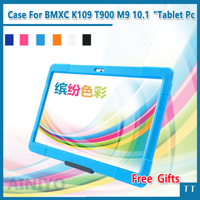 "Case for CIGE BMXC T805C S109 Protective silicone case for K109 T900 M9 10.1"" tablet case + free 3 gifts"