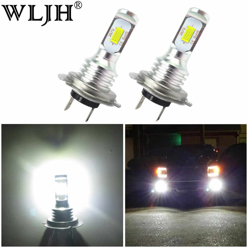 WLJH 2x Canbus 6000k White 1000lm H7 Led Light C'ree Car Lamp Auto Dip Low Beam Headlight For FORD Focus II 2004 2005 2006 2007