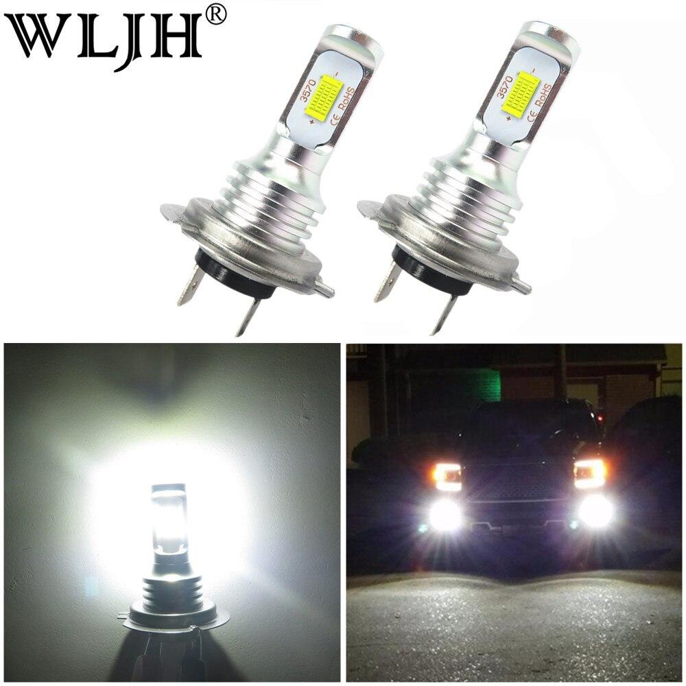 wljh 2x canbus 6000k branco 1000lm h7 led luz cree ree lampada do carro mergulho automatico
