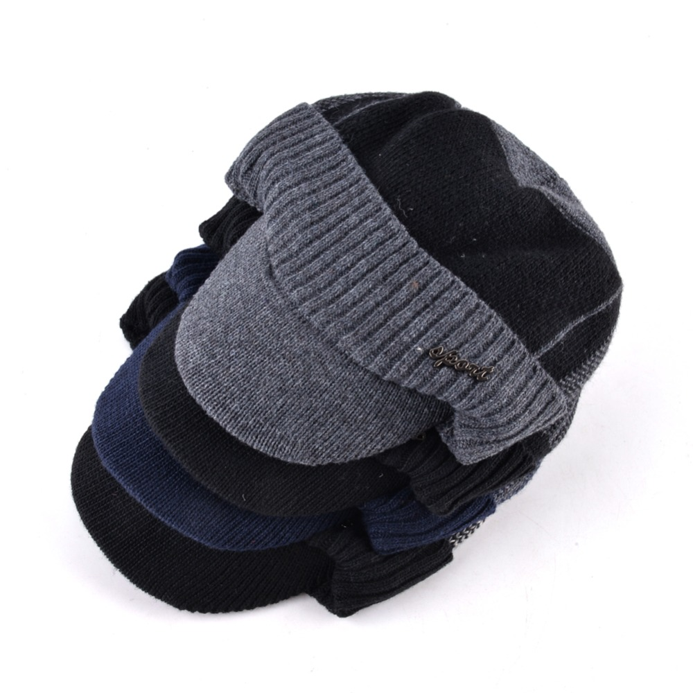 15de92a2af76 TQMSMY invierno militar sombreros para hombres Bone gorra de béisbol de los  hombres Gorros de lana ...