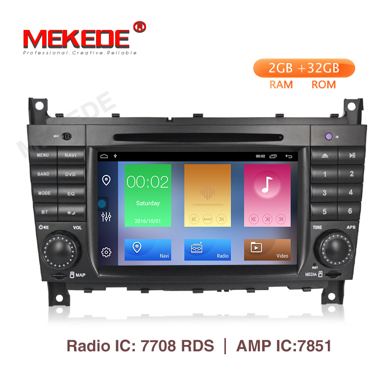 MEKEDE Android 9.1 2+32G 2 DIN Car DVD GPS For Mercedes/Benz W203 W209 W219 A-Class A160 C-Class C180 C200 CLK200 radio stereoMEKEDE Android 9.1 2+32G 2 DIN Car DVD GPS For Mercedes/Benz W203 W209 W219 A-Class A160 C-Class C180 C200 CLK200 radio stereo