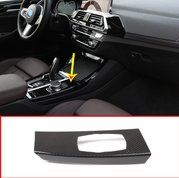 Real Carbon Fiber Car Center Multimedia knob Panel Cover Trim For BMW X3 X4 G01 G02 2018 2019 Left Hand Drive Accessories