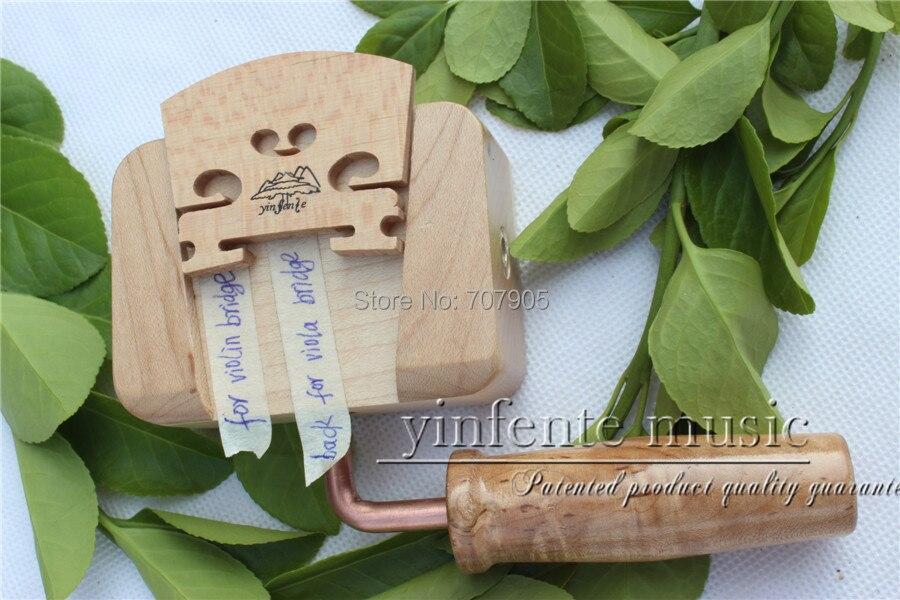 Ein Stück 4/4 Violine Brücke Klemme Violine Halter Cut Brücke Hölzerne Wiege Werkzeuge 1 Stücke Schnelle WäRmeableitung