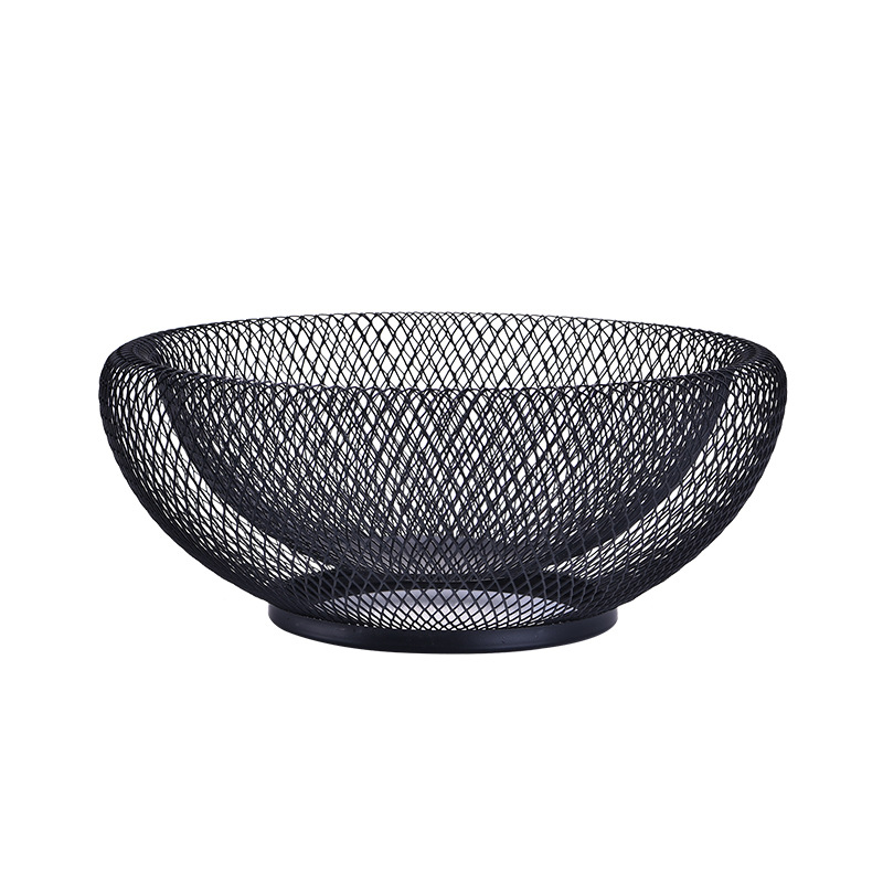 Nordic Creative Double layer Fruit Tray Drain Basket Ornament Storage Basket Household Desktop Iron Fruit Bowl Living Room Decor