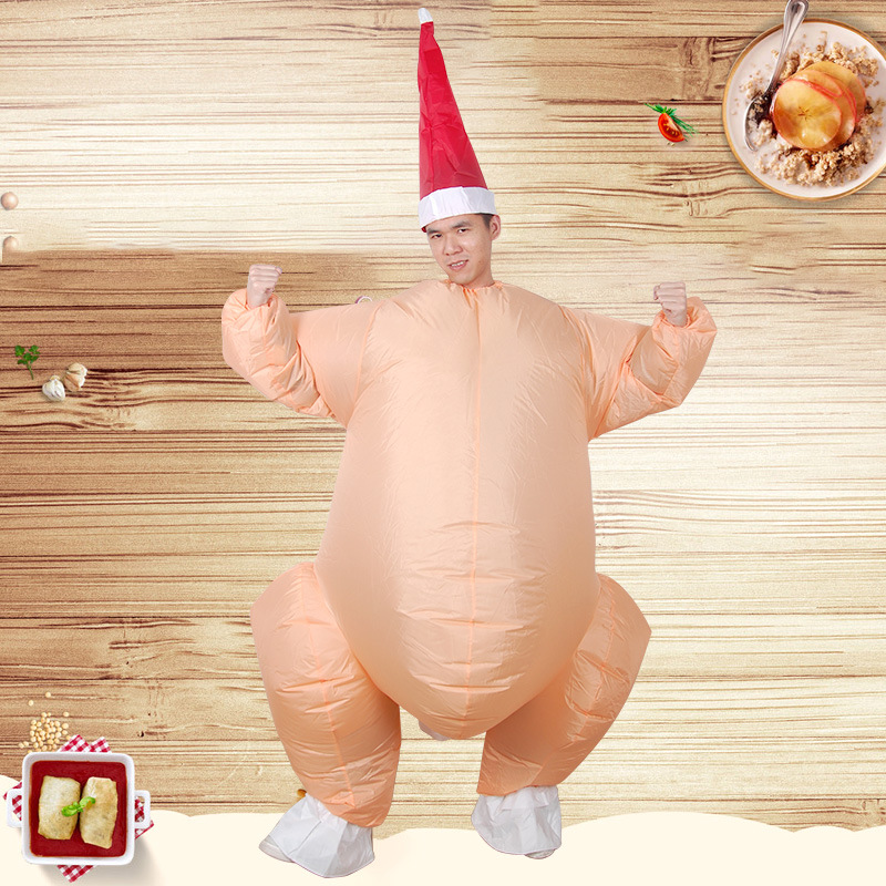 Inflatable Monster Costumes Roast chicken Mascot Cosplay for Adult Riding a turkey mounts Halloween Purim Party Funny Costumes