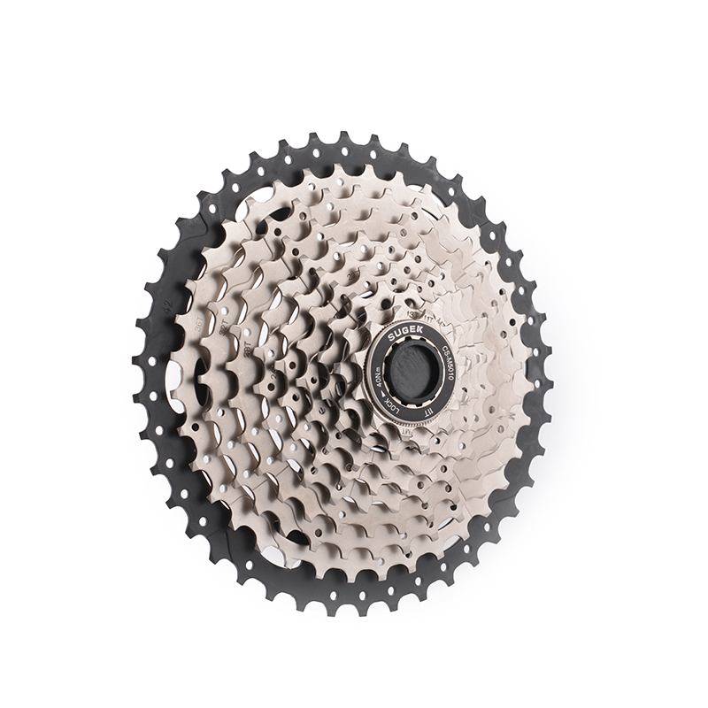 SUGEK CS-M5010 MTB Freewheel 10Speed Cassette Flywheel 11-42T Max Piece Black