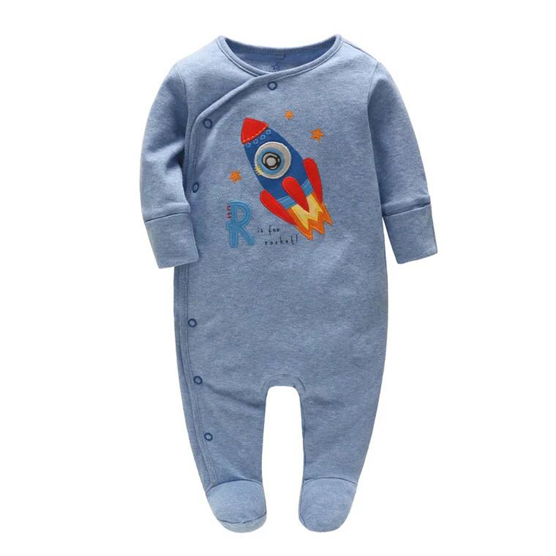 Newborn Baby Boys Clothes Babies Girls Romper Jumpsuit Pajamas One Pieces Long Sleeve 3 6 9 12 Months Infant Rompers