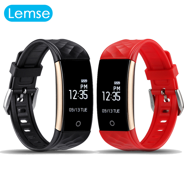 Lemse S2 Smart Bracelet Smartwatch Heart Rate Monitor Notification Sport Tracker Remote Camera Anti-lost Smart band wristband