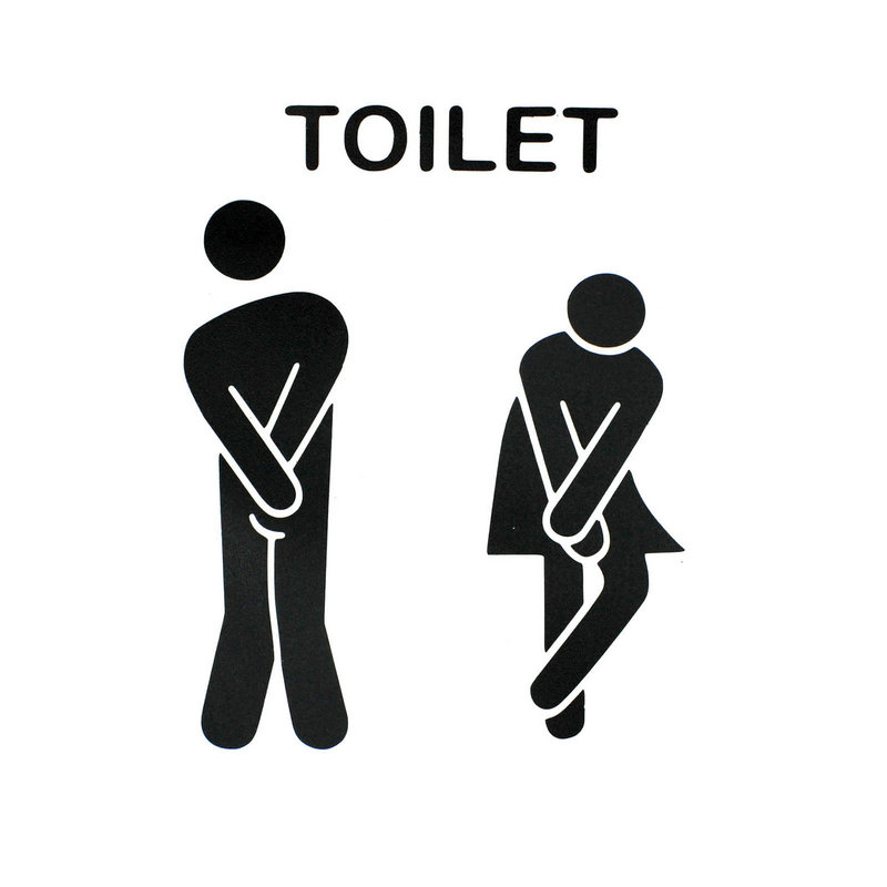 out of order sign 4 family source funny two human toilet seat bathroom door sign sticker removable - Bathroom Out Of Order