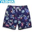 Летние шорты мужчины спортивная одежда мужская море серфинг плюс размер больших ployester цветок дерево бодибилдинг бегунов короткие A4
