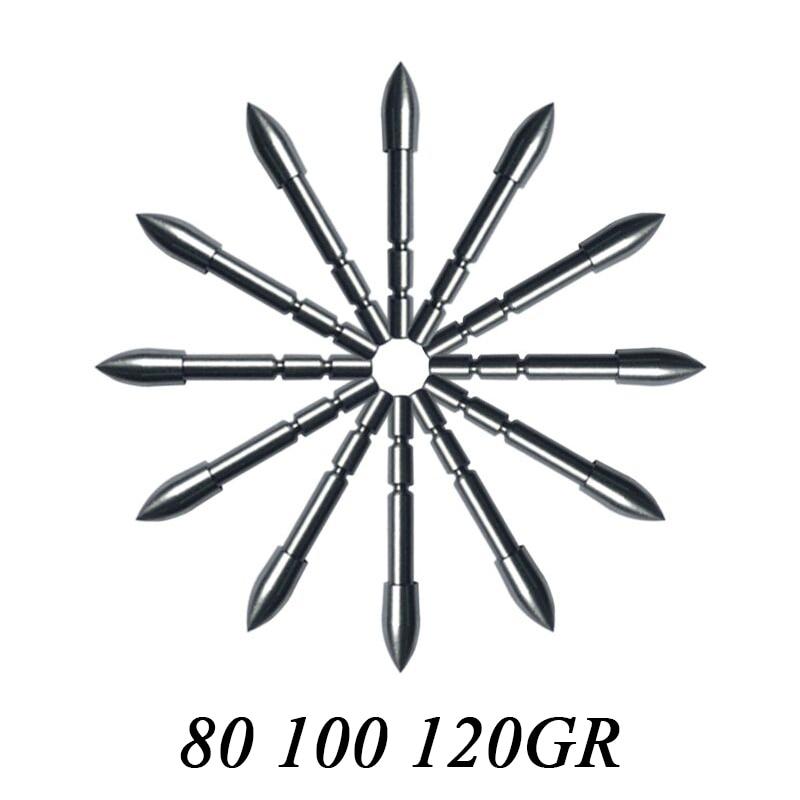 12pcs/24pcs 80gr 100gr 120gr Archery Target Point Arrowhead Broadhead ID4.2mm OD5.7mm fo ...