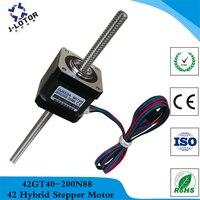 42 Through Screw Stepper Motor shaft Tr8*8 Nema 17 1.68A Nema 17 0.36kg.cm Through linear stepping motor