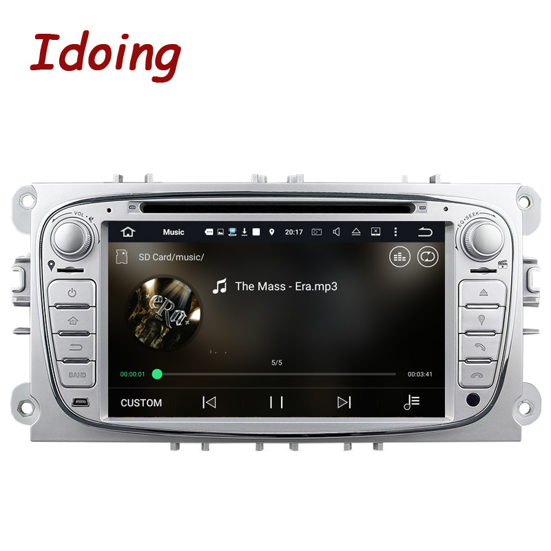 Idoing Steering-Wheel 2Din For Ford Focus Mondeo Car DVD Multimedia Player Android7.1Bluetooth FM/AM Radio Video Car Rear Camera