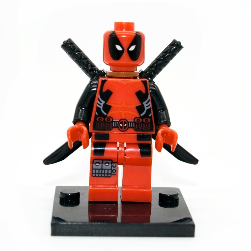 Legoe Uyumlu Deadpool Minifigure Marvel X-men Süper Kahramanlar Yapı Taşları Model Tuğlalar Setleri Oyuncaklar Çocuklar Için