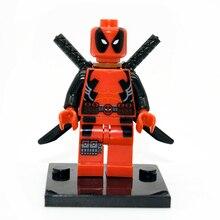 Legoe Compatible Deadpool Minifigure Marvel X-Men Super Heroes Building Blocks Sets Model Bricks Toys For Children