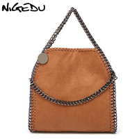 Nigedu سلسلة crossbody حقائب للنساء حقيبة الكتف الإناث براثن أضعاف محفظة ستيلا المنسوجة السيدات حقائب صغيرة 2018 بولسا