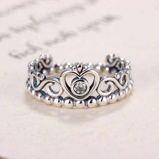 Prinzessin Königin Crown Hohl Herz Band Ring Einzigartige Design ...