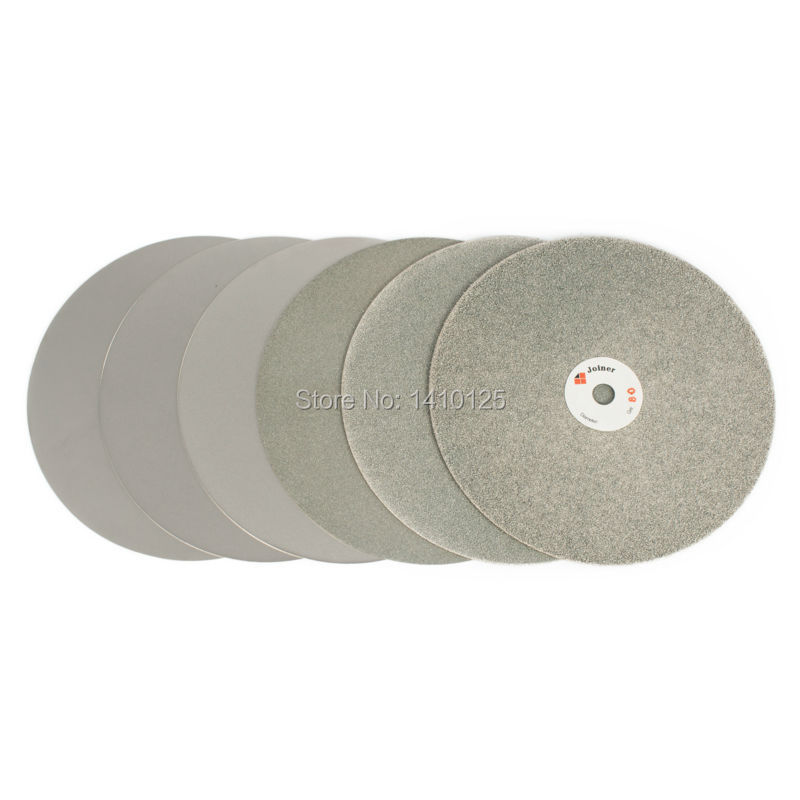 6PCS 8 inch Grit 80 150 320 600 1200 3000 Diamond Grinding Disc Flat Lap Disk Coated Abrasive Wheels Jewelry Lapidary Tools 1a1 flat shape diamond coated abrasive wheel grinding disc for tungsten carbide tools d100 hole 20mm grit 80 600 e006