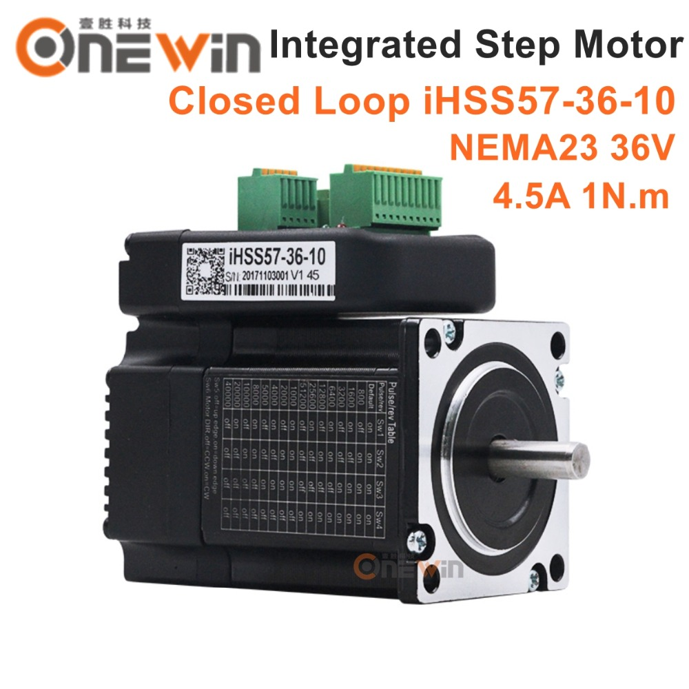 JMC NEMA23 Integrated Closed Loop Stepper Motor 36V 4.5A 1Nm 142oz.in iHSS57-36-10 nema23 2nm 283oz in integrated closed loop stepper motor with driver 36vdc jmc ihss57 36 20