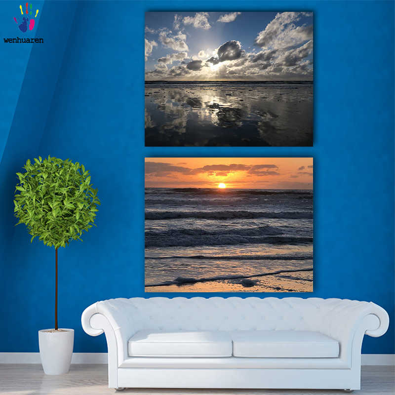 DIY colorings pictures by numbers with colors The sea at sunset picture drawing painting by numbers framed Home