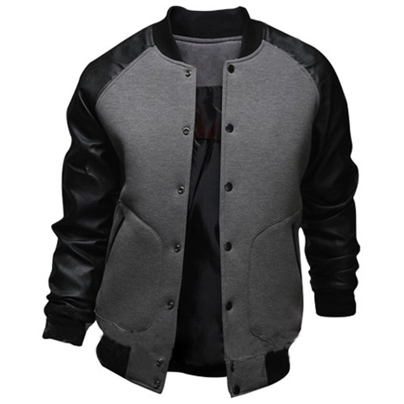 Online Get Cheap Leather Baseball Jacket Men -Aliexpress.com