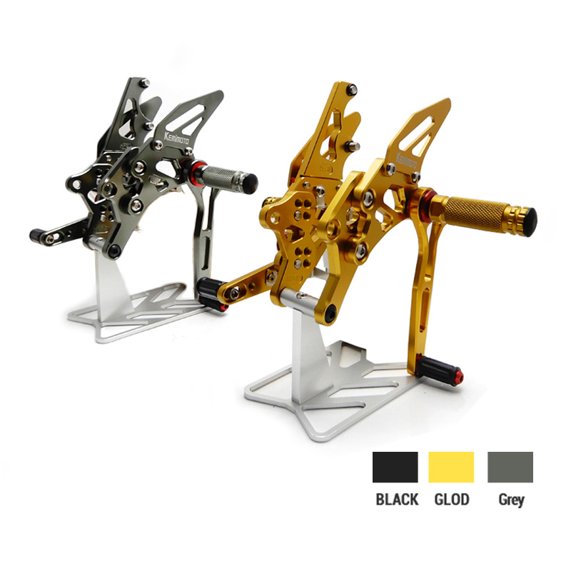 цена на YZF-R3 YZF-R25 MT03 MT25 Motorcycle CNC Adjustable Rear set Footrest Rearsets For Yamaha YZF R25 R3 MT-03 2014 2015 2016 2017