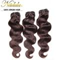 6A Nadula волосы # 2 / # 4 # 33 / # 99J бразильский девственные волосы 3 пучки много бразильских волос ткать пучки, Бразильский волна человеческих волос