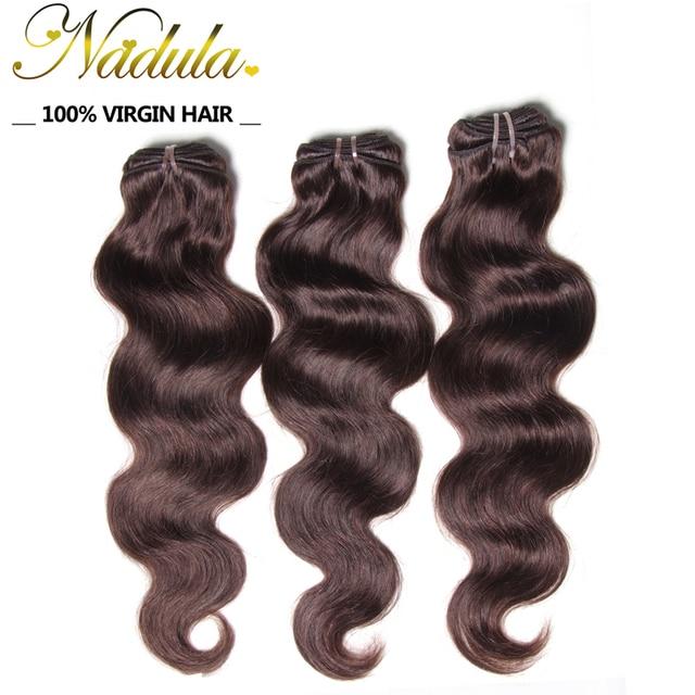 6A Nadula cabelo 2 / 4 33 / # 99J brasileiro virgem cabelo 3 Bundles brasileiro cabelo Weave bundles, Cabelo humano onda do corpo brasileiro