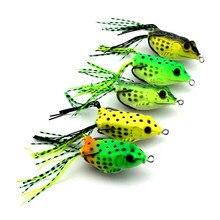 1pcs 12g Soft Frog Lure Bass Pesca Fishing Double Hooks Bait iscas artificiais para Gear Carp fishing Tackle WQ193
