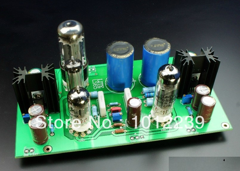 Assembled LS65 tube power supply board