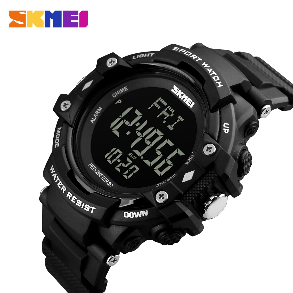 SKMEI Men Outdoor Sports Watches Heart Rate Calories Digital Wristwatches luxury Men's Watch Male Clock Relogio Masculin 1180