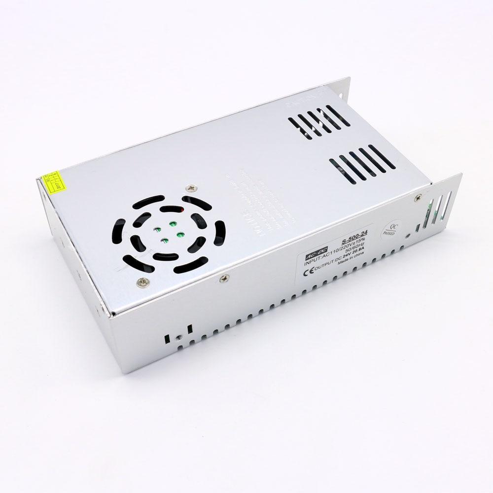 110V 220V to 24V Dc Led Power Supply 500W Output 20A SMPS for Led Strips single output uninterruptible adjustable 24v 150w switching power supply unit 110v 240vac to dc smps for led strip light cnc