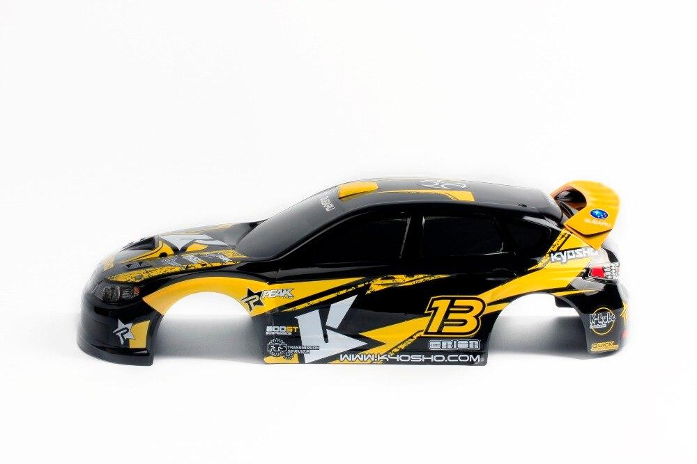 Oyuncaklar ve Hobi Ürünleri'ten Parçalar ve Aksesuarlar'de RC Yarış Özel Boyalı Araba Vücut Kabuğu 1/10 ölçekli On yol Araba sürüklenme için Kyosho HPI Tamiya HSP 200mm'da  Grup 3