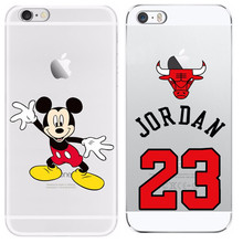 23 Jordan For Apple iphone 4 4S 5 5S SE 5C 6 6 Plus 7 7 Plus Cases Soft Cover TPU Phone Bags Cases For Iphone4 5 6 7 Plus