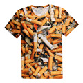 Third-Hand Smoke Could Kill You 3D Print T-shirt Cigarettes Teenagers Unisex Costume Summer Tee Shirts Loose Homme Tops