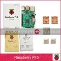 Raspberry Pi 3 Modelo B 1G 64-Bit ARM Quad-Core WiFi & Bluetooth + CPU Dissipador De Calor de Alumínio Para Raspberry Pi 3 Livre grátis