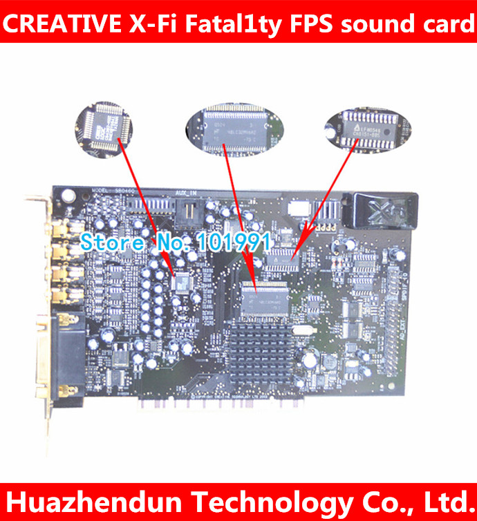 Original Creative X-Fi Fatal1ty FPS SB0466 64M 7.1 PCI Sound Card FREE SHIPPING цена