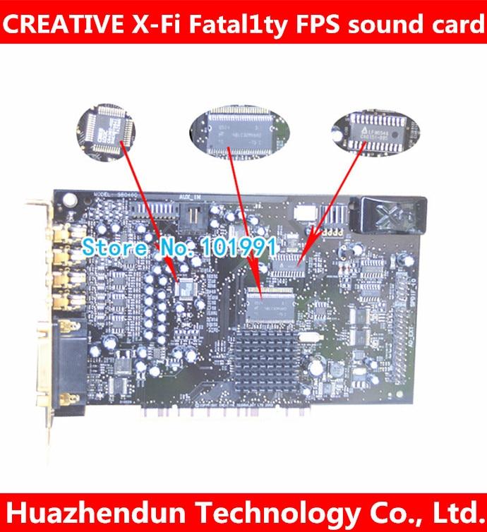 Original Creative X-Fi Fatal1ty FPS SB0466 64M 7.1 PCI Sound Card FREE SHIPPING