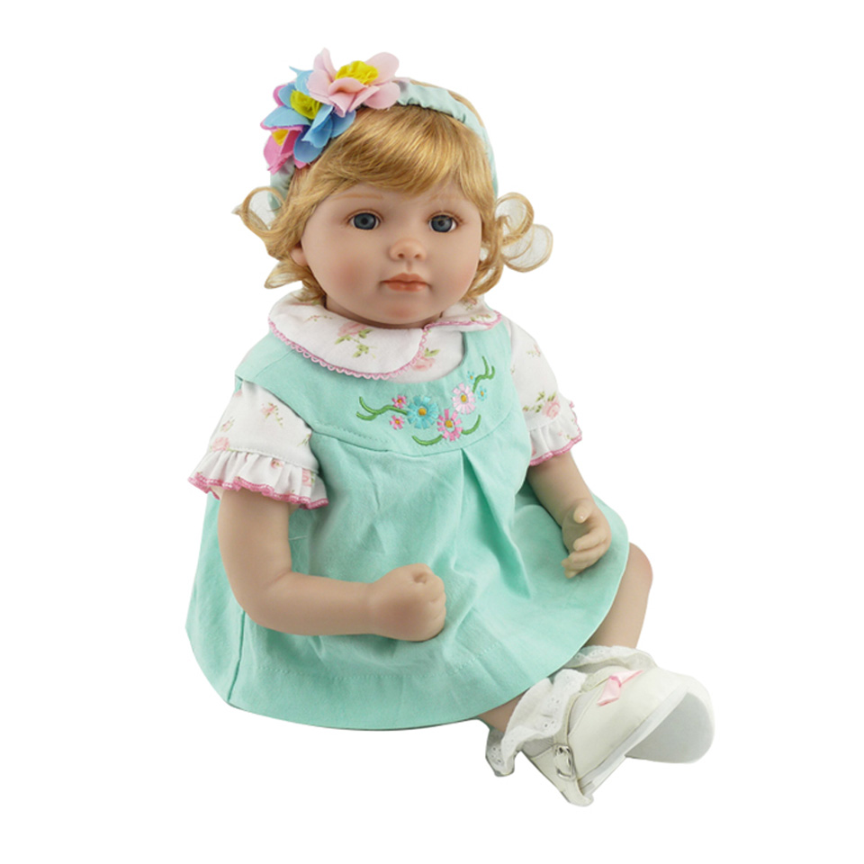 цена New Reborn Dolls 22'' Soft Silicone Baby Realistic Baby Dolls Alive Girl Princess Reborn Kids Playmates For Birthday Gifts