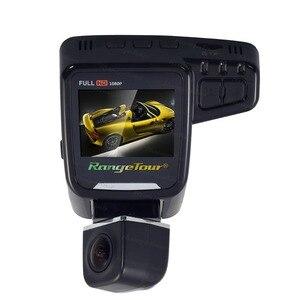 """Image 3 - 범위 투어 C10s 플러스 미니 자동차 DVR 360 학위 회전 대시 캠 듀얼 렌즈 전면 1080P 후면 480P 비디오 레코더 2 """"스크린 디스플레이"""