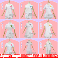 Sept Stock Anime Love Live Sunshine Aqours Angel Unawaken All Members White Lolita Dress Cosplay
