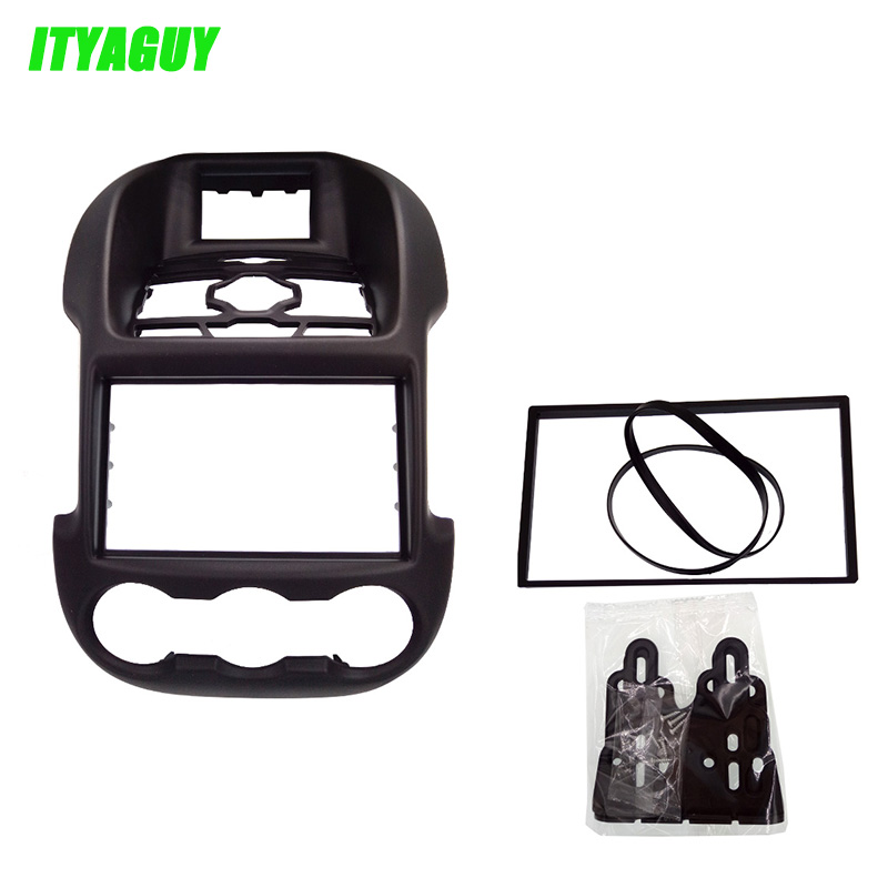 ITYAGUY Fascia for Ford Ranger 2011+ stereo facia frame panel dash mount kit adapter trim 2 din car fascia panel audio panel frame dash frame kit for volkswagen crafter 2008 2009 2010 2011 2012 2013 free shipping