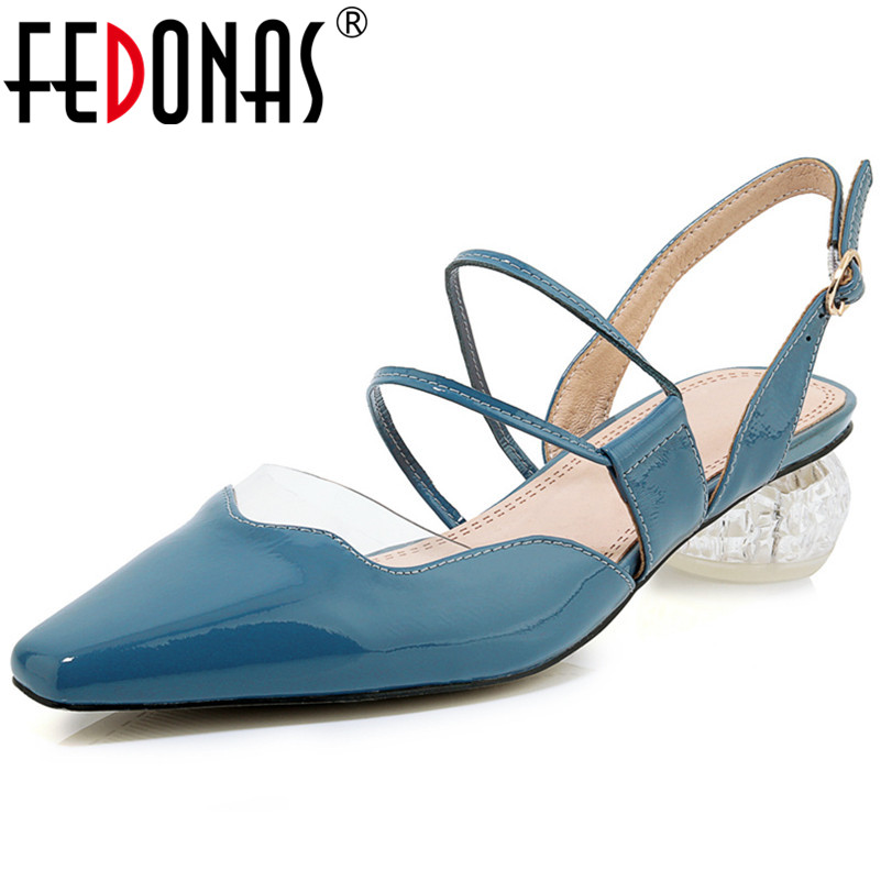FEDONAS New Arrival Classic Design Fashion Women Pumps Sweet High Heeled Genuine Leather Prom Shoes Spring Summer Shoes WomanFEDONAS New Arrival Classic Design Fashion Women Pumps Sweet High Heeled Genuine Leather Prom Shoes Spring Summer Shoes Woman