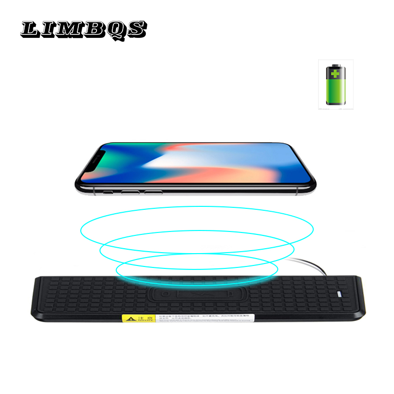 Original High quality QI wireless charger <font><b>for</b></font> f30 f31 f34 f36 <font><b>BMW</b></font> 3 series fast charging <font><b>case</b></font> panel phone holder <font><b>for</b></font> <font><b>iPhone</b></font> <font><b>8</b></font> X image